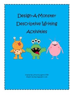 Fun, FREE writing pack! Students design a monster and then practice descriptive writing. Perfect writing project for the Halloween season.