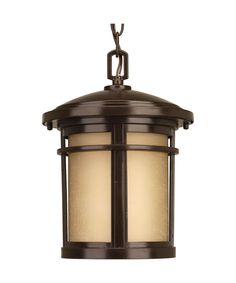 "Wish 9"" LED 1 Light Outdoor Hanging Lantern in Antique Bronze"