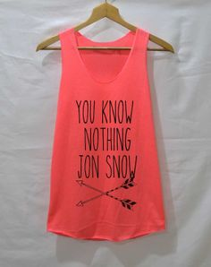 You Know Notthing Jon Snow Shirt Game of thrones by iNakedapparel