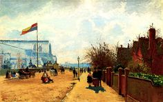 Crystal Palace in 1871 by Camille Pissarro.