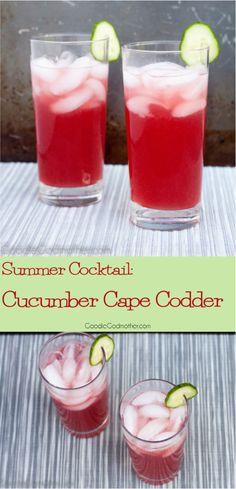 ... mocktail! Get the Cucumber Cape Codder Recipe on GoodieGodmother.com