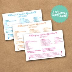 INSTANT DOWNLOAD Printable Shabby Chic Allergen by PurpleScrunch