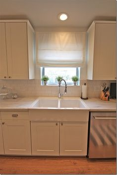 Get DuPont Corian solid surface countertops in rain cloud. Seamless solid surface countertops mean no mold, bacteria, or germs in your home. Cost Of Countertops, Kitchen Countertops, Kitchen Cabinets, White Cabinets, Ikea Cabinets, White Corian Countertops, Kitchen Backslash, Laminate Countertops, Kitchen Redo