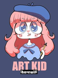 Cartoon Drawing Design ART KID by lavendertowne - Unisex T-Shirt Different Art Styles, Cute Art Styles, Cartoon Art Styles, Cartoon Kunst, Cartoon Drawings, Cute Drawings, Simple Drawings, Doodle Drawings, Lavender Towne