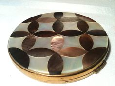 1940s brass gold abalone and mother of pearl