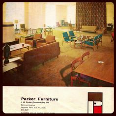 Parker is Australia's most popular and iconic quality mid century furniture makers. Started in 1935 by Jack Parker and carpenter Alf Dagger the compan Affordable Furniture Stores, Top Furniture Stores, Furniture Catalog, Furniture Showroom, Furniture Dolly, Art Deco Furniture, Small Furniture, Retro Furniture, Cheap Furniture