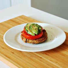 Living on Saltwater - Mediterranean Veggie Burger Recipe