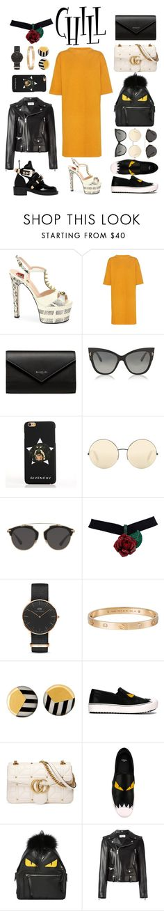"""""""Chill"""" by vatmad ❤ liked on Polyvore featuring Gucci, Étoile Isabel Marant, Balenciaga, Tom Ford, Givenchy, Victoria Beckham, Christian Dior, Daniel Wellington, Cartier and Tiffany & Co."""