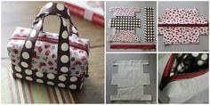 Fabric Mini Tote Handbag   www.FabArtDIY.com
