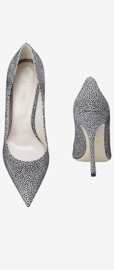 Sergio Rossi Salt and Pepper Pumps Fall Winter 2014 #Shoes #Heels #SergioRossi