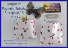 Creating my way to Success: Magnetic Pockets a tutorial - 5 steps in 15 mins. Cute idea to use up scraps.