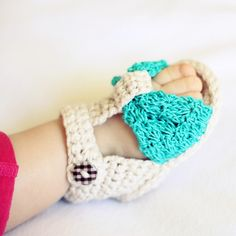 Crochet PATTERN pdf file  Foulard Baby Sandals by monpetitviolon, $3.99