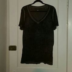 Torrid black tee Slightly translucent black tee (torrid size 0) torrid Tops Tees - Short Sleeve