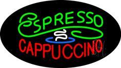 Stylish Espresso Cappuccino Animated Neon Sign