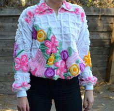 Floral Velour Jacket by LetThemEatCakeLA on Etsy, $48.00