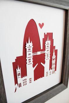 London. England - London Bridge. Personalized Gift or Wedding Gift. $33.00, via Etsy. #bestofbritish