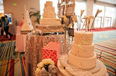 Quick shot from the Designer Wedding Cake Showdown from the Orlando PWG Wedding Show! Meet the incredible wedding professionals behind the cakes at the next PWG Wedding Show! Use code PIN for $2 off tickets at Orlando.PWGShows.com