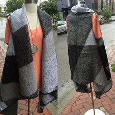 New sleeveless blanket vest! $69 available in Nashville and will be online soon! #piecesfashion #shopping #shoplocal #shopsmall #ootd #outfits #outfitideas #germantown #nashville by piecesfashion