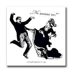 No means no! – Sticker (10x)