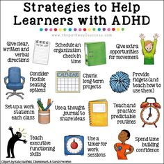 Strategies for Kids with ADHD Strategies for Kids with ADHD,Elementary Special Education Activities strategies for kids and teens with ADHD! Help students find success in the classroom with organization, study strategies,. Education Positive, Special Education Classroom, Education College, Education Degree, Physical Education, Education Banner, Teacher Education, Kids Education, Adhd And Autism