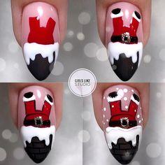 "МАНИКЮР: уроки и МК on Instagram: ""@girls_like_studio - Nail Art Noel, Xmas Nail Art, Christmas Nail Art Designs, Holiday Nail Art, Winter Nail Designs, Chistmas Nails, Cute Christmas Nails, Xmas Nails, Christmas Lights"