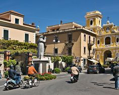 Piazza Tasso  is considered to be the heart of Sorrento, Italy