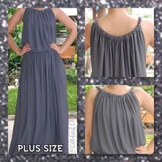 🆕Plus Size Gray Grecian Goddess Maxi Dress This is a brand new plus size grecian goddess style dress in XXL or 14-18. This is made by a designer in Thailand and is a gorgeous array of vibrant colors and patterns that are perfect for wear year round. These are made more true to size but they are flexible to fit up the largest sizes.  Material: Polyester 95% Spandex 5%.  COMFORTABLE TO WEAR, DUE TO THEIR LIGHT WEIGHT FABRIC. Size: XXL (Fits US 14-18) Color: Royal Blue, Bright Red, Green…