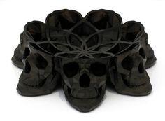 skull vanity bowl from French designer Laurent Massaloux