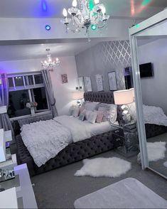 Room Design Bedroom, Home Bedroom, Bedroom Ideas, Neon Bedroom, Glam Bedroom, Beauty Room Decor, Decor Room, Bedroom Decor For Teen Girls, Stylish Bedroom