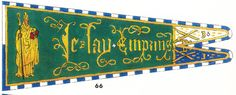 Banner  – 5th Compagnie, St Nicholas on a field vert (green), 1m by 3m.