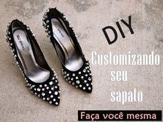 DIY: Customização de sapato com strass