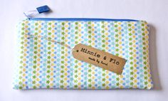Handmade Zipped Pencil Case Fabric Pouch by MinnieandFlo on Etsy