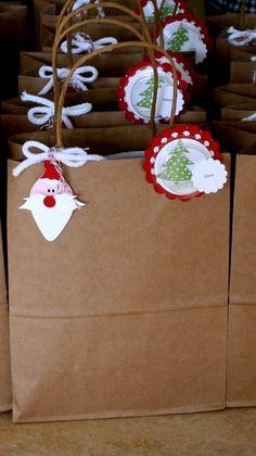 Santa tag tutorial   Little Scraps of Paper
