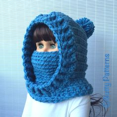 Patrones de ganchillo capucha con capucha Boston por nuttypatterns