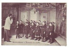 Carte postale : Institution des sourds-muets à Nantes « Sourds.net; breathing and blowing exercises.
