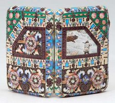 A SILVER AND CLOISONNE ENAMEL CIGARETTE CASE, FEODOR RUCKERT, MOSCOW, 1908-1917
