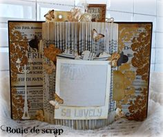 Altered book scrapbooking