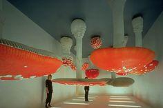 Carsten Holler - Upside Down Mushroom Room, 2000  exhibited at Fondazione Prada Milan