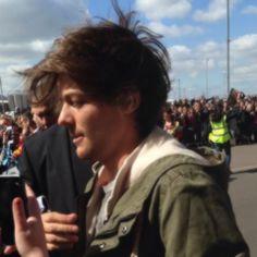 His hair