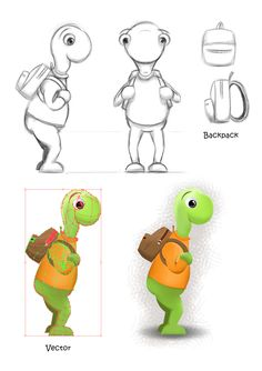 Turtle character initial concept gfx