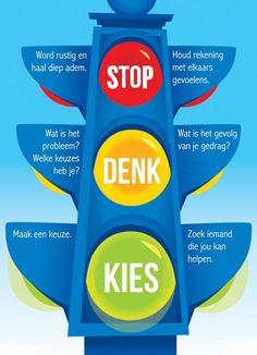 Met behulp van het onderstaande (stoplicht) stappen plan kan je kinderen op een…