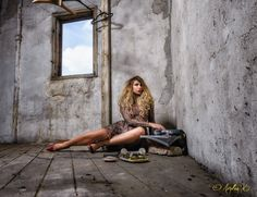 Crazy fashionista 2 - A shoot with depicting a blonde girl crazy about fashion in an old uninhabited place