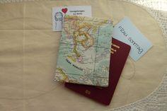Weiteres - *Reisepass-Hülle* Weltkarte 1 - ein Designerstück von frausonntagnaeht bei DaWanda