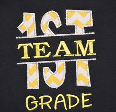 Team First Grade School Shirt Teacher Shirts by trendyembroidery