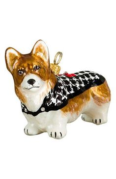 Joy to the World Collectibles 'Dog in HoundstoothSweater' Ornament available at #Nordstrom