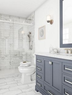 33 Perfect Modern Farmhouse Bathroom Design Ideas And Remodel. If you are looking for Modern Farmhouse Bathroom Design Ideas And Remodel, You come to the right place. Here are the Modern Farmhouse Ba. Beach Bathrooms, Small Bathroom, Bathroom Renos, Bathroom Ideas, Bathroom Organization, Marble Bathrooms, Boho Bathroom, Home Depot Bathroom, Bathroom Gray