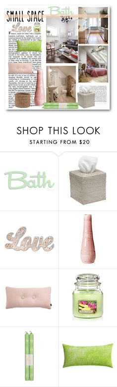 """""""Small space contest"""" by cassandria ❤ liked on Polyvore featuring interior, interiors, interior design, home, home decor, interior decorating, Yankee Candle, Caspari, CB2 and Pigeon & Poodle"""