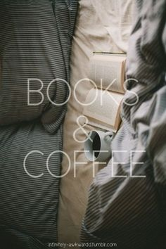 Books and coffee = Heaven.