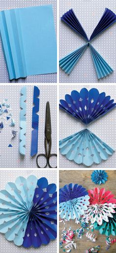 DIY paper flowers - Diy and Crafts Kids Crafts, Diy And Crafts, Arts And Crafts, Paper Decorations, Birthday Decorations, Diy Flowers, Paper Flowers, Paper Flower Decor, Tissue Flowers