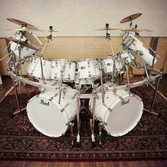Pearl ~~ My set was Silver Sparkle Pearl. I had a single set to start off with and added a second Red Sparkle set I bought off my friend. I loved playing drums. It was my one frustration relief when I was young and I was pretty good at them. LD.